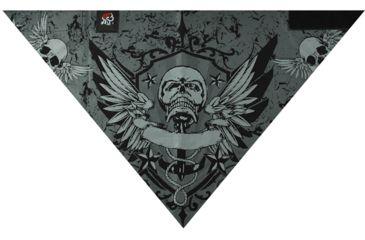 Zan Headgear 3-in-1 Headband System Velcro Bandana, Pirate Crest BV013