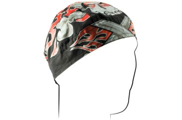 Zan Headgear Flydanna Flaming Crossbones Z681