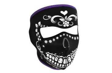 Zan Headgear Full Mask, Neoprene, Highway Honey, Muerte, Rhinestones WNFM078B