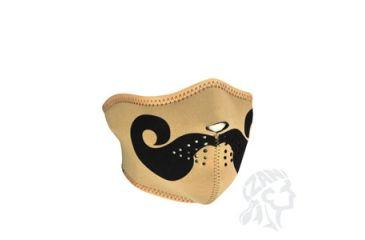 Zan Headgear Half Mask, Neoprene, Curly Mustache WNFM167H