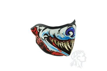 Zan Headgear Half Mask, Neoprene, Lethal Threat, Wolf WNFMLT10H
