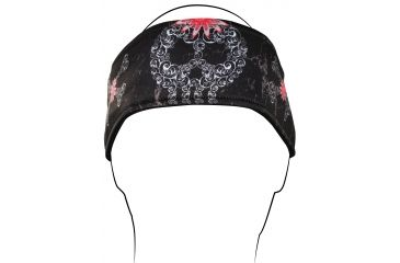 Zan Headgear Headband, Filagree Skull HB674