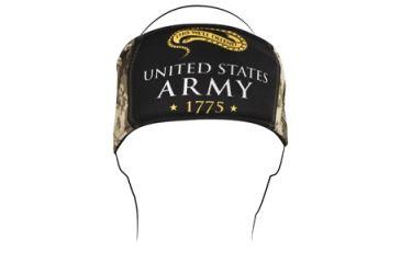 Zan Headgear Headband, Polyester, U.S. Army, Camo Logo HB702