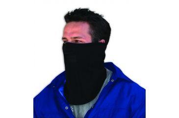 Zan Headgear Microfleece Face Mask with Mesh Mouth Black WFMF114