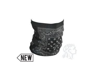 Zan Headgear Motley Tube, Fleece Lined, Black Paisley TF101