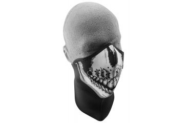 Zan Headgear Neo-X Face Mask w/Neck Shield Skull Face WNXN002