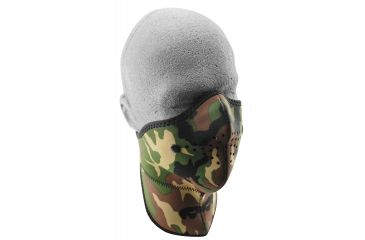 Zan Headgear Neo-X Face Mask w/Neck Shield Woodland Camo WNXN118