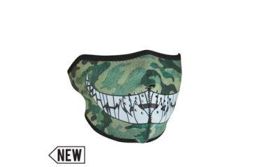 Zan Headgear Neoprene 1/2 Mask, Camo w/ Teeth WNFM072H