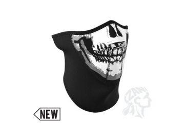 Zan Headgear Neoprene Black 3-Panel Half Mask, Skull WNFM002H3