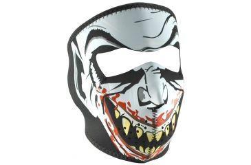 Zan Headgear Neoprene Face Mask, Glow in the Dark, Vampire WNFM067G