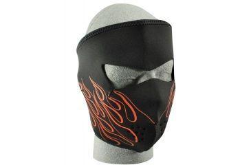 Zan Headgear Neoprene Face Mask Orange Flame WNFM045