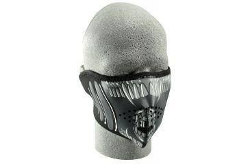 Zan Headgear Neoprene Half Face Mask Alien WNFM039H