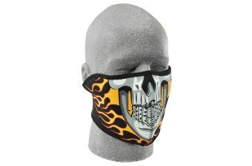 Zan Headgear Neoprene Half Face Mask Burning Skull WNFM061H
