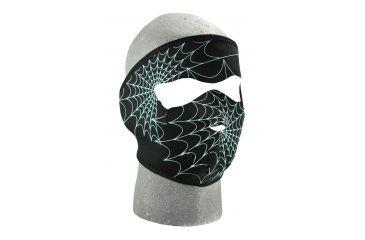 Zan Headgear Neoprene Half Face Mask Glow in the Dark Spiderweb WNFM057G