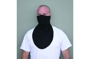 Zan Headgear Neoprene Half Face Mask Neoprene Neck Shield Black WNFM114HN