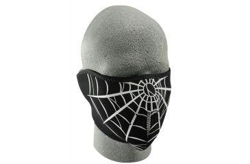 Zan Headgear Neoprene Half Face Mask Spider Web WNFM055H