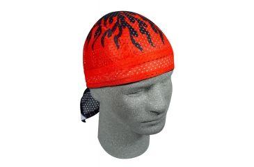 Zan Headgear Vented Flydanna Red Flames ZX227