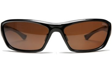 Zeal Optics Boundary Sunglasses, Black Gloss Frame and Polarized Copper Lens 10031