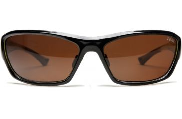 Zeal Optics Boundary Sunglasses, Black + Lime Green Gloss Frame and Polarized Copper Lens 10032