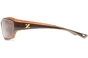 Zeal Optics Boundary Sunglasses, Brown + Orange Gloss Frame and Polarized Copper Lens 10033