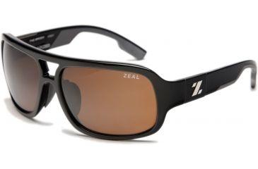 Zeal Optics Brody Mens Sunglasses, Black Gloss Frame and Polarized Copper Lens 10007