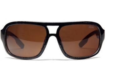 Zeal Optics Brody Mens Sunglasses, Black Plaid Frame and Polarized Copper Lens 10009