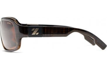 Zeal Optics Brody Mens Sunglasses, Brown Plaid Frame and Polarized Copper Lens 10010