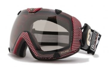 Zeal Optics Classic Eclipse Ski Goggles, Carbon Matte Red Frame and Polarized Automatic Optimum Lens ES2SPPR