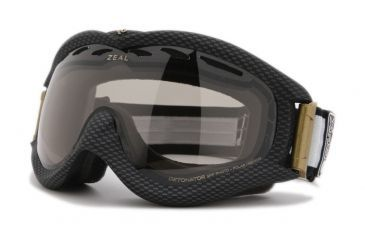 Zeal Optics Detonator Ski Goggles, Carbon Matte Black Frame and Polarized Automatic Optimum Lens DT4SPP