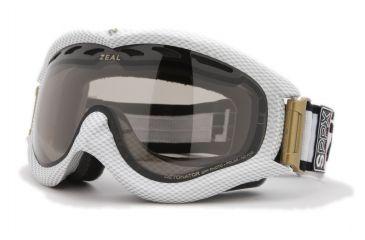 Zeal Optics Detonator Ski Goggles, Carbon Matte White Frame and Polarized Automatic Optimum Lens DT4SPPW