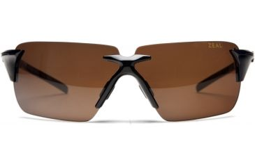 Zeal Optics EOS Sunglasses, Black Gloss Frame and Non-Polarized Copper Lens 10077
