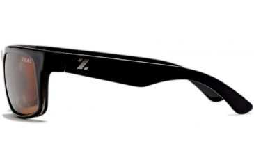 Zeal Optics Essential Mens Sunglasses, Black Gloss Frame and Polarized Copper Lens 10001
