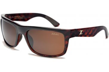 Zeal Optics Essential Mens Sunglasses, Demi Tortoise Frame and Polarized Copper Lens 10005