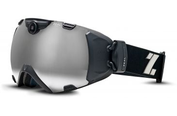 Zeal Optics iON Camera Ski Goggles, Matte Night Black Frame and Metal Mirror Optimum Lens 10318