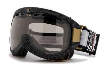 Zeal Optics Link Classic Ski Goggles, Carbon Matte Black Frame and Polarized Automatic Optimum Lens LK4SPP