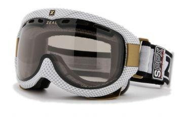 Zeal Optics Link Classic Ski Goggles, Carbon Matte White Frame and Polarized Automatic Optimum Lens LK4SPPW