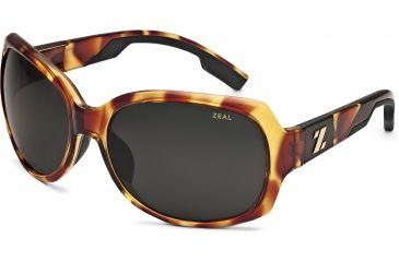 Zeal Optics Penny Lane Womens Sunglasses, Blonde Tortoise Frame and Polarized Dark Grey Lens 10399