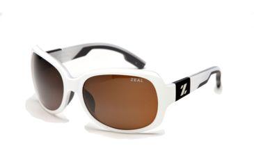 Zeal Optics Penny Lane Womens Sunglasses, White Gloss Frame and Polarized Copper Lens 10012