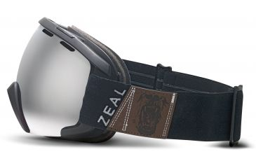 Zeal Optics Slate Ski Goggles, Foundry Black Frame and Metal Mirror Optimum Lens 10262