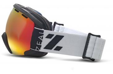 Zeal Optics Slate Ski Goggles, Upland White Frame and Metal Mirror Optimum Lens 10265