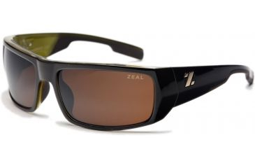 Zeal Optics Snapshot Sunglasses, Brown + Olive Gloss Frame and Non-Polarized Copper Lens 10021
