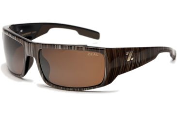 Zeal Optics Snapshot Sunglasses, Wood Grain Frame and Non-Polarized Copper Lens 10023
