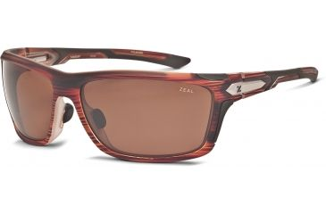 Zeal Optics Takeoff Sunglasses, Matte Rust Wood Grain Frame and Polarized Copper Lens 10046