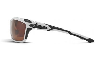 Zeal Optics Takeoff Sunglasses, White Gloss Frame and Polarized Copper Lens 10044