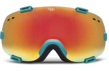 Zeal Optics Voyager Ski Goggles, Territory Turquoise Frame and Phoenix Mirror and SkyLight Blue Optimum Lens 10275
