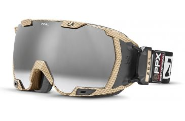 Zeal Optics Z3 GPS MOD Ski Goggles, Matte Gold Frame and Polarized Automatic Optimum Lens Z3SPPG