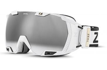 Zeal Optics Z3 GPS MOD Ski Goggles, Matte White Frame and Polarized Automatic Optimum Lens Z3SPPW