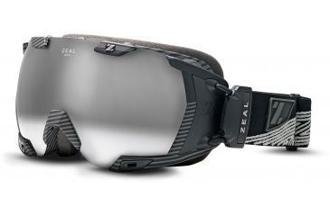 Zeal Optics Z3 GPS MOD Ski Goggles, Quantum Black Frame and Metal Mirror Optimum Lens 10237