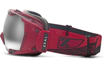 Zeal Optics Z3 GPS MOD Ski Goggles, Quantum Red Frame and Metal Mirror Optimum Lens 10238