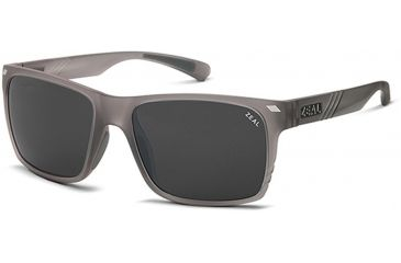 Zeal Optics Zeal Optics Brewer Sunglasses Granite Grey Frame, Dark Grey Lenses, Polarized 10517